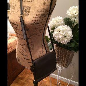 Valerie Stevens Handbags - Valerie Stevens Brown Leather Crossbody Purse