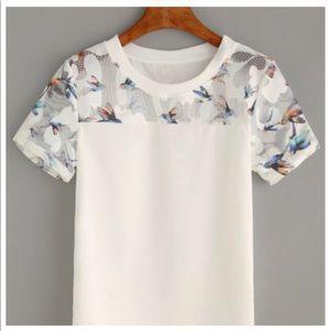 White Hummingbird Sheer Top 💋