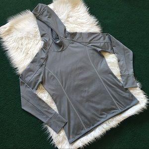 Athleta Pullover Hoody Jacket w Thumb Hole Grey L