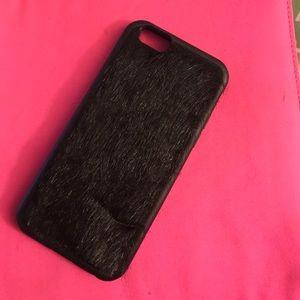 Wildflower Accessories - Wildflower case black fur iPhone 6/6s