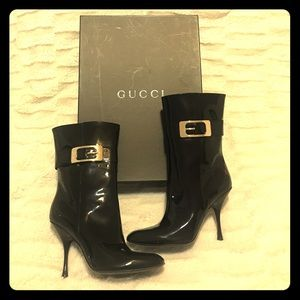 Gucci Shoes - BRAND NEW GUCCI BLACK PATENT BOOTS