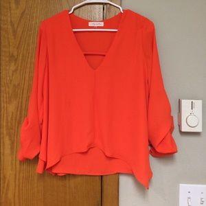 Sugarlips Tops - Beautiful bright orange top
