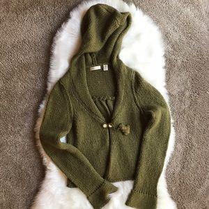 Anthropologie Sweaters - Anthropologie Sleeping on Snow Wool Sweater Moss