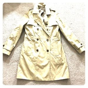 Banana republic beige trench coat sz small nwt