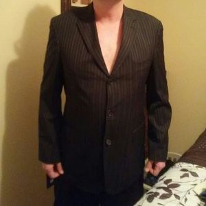 Hugo Boss Other - Hugo Boss 44R Black Pin Stripe Suit Jacket