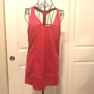 Zella Red T Back Workout Tank Top