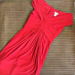 Andre Oliver Dresses & Skirts - Andre Oliver red dress off the shoulder cocktail