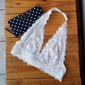 Free People Other - S FREE PEOPLE GALLOON LACE HALTER BRA