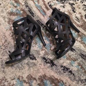 Fergalicious Shoes - Black Caged Heels