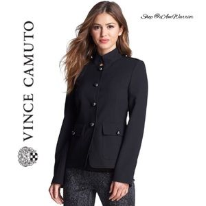 Vince Camuto NWT black military jacket