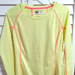 RBX Tops - Womens yellow long sleeve athletic top size medium