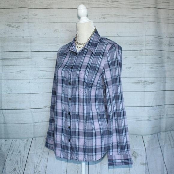 Gap gap purple plaid button down shirt from lalaine 39 s for Purple plaid button up shirt