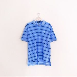 Polo by Ralph Lauren Other - men's light blue striped polo by Ralph Lauren