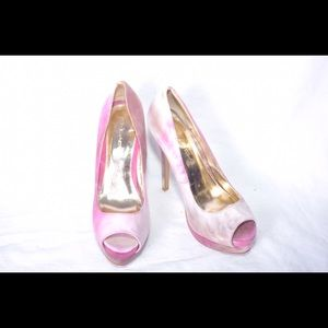 c. label Shoes - C. Label multicolor platform pumps size 8