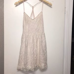 Abercrombie & Fitch Lace Scalloped Circle Dress
