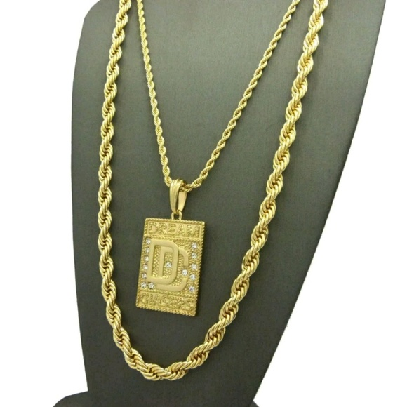 44 off other men 39 s hip hop iced out necklace set from