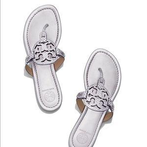 Tory Burch Shoes - Tory Burch silver Miller sandal