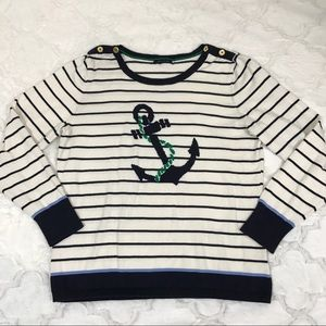Tommy Hilfiger sweater nautical anchor stripes