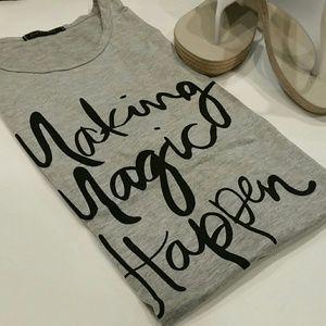 "Tops - ""Making Magic Happen"" Graphic Tshirt"