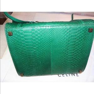 Celine Bags - Celine Phantom Luggage Tote Emerald Green Python 36cd78890ea43