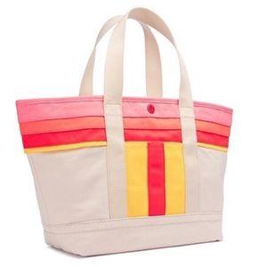Tory Burch Handbags - ✨NWT✨ Tory Burch Stripe T Canvas Beach Tote Bag