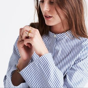 Madewell Bell Sleeve Shirt in Stripe