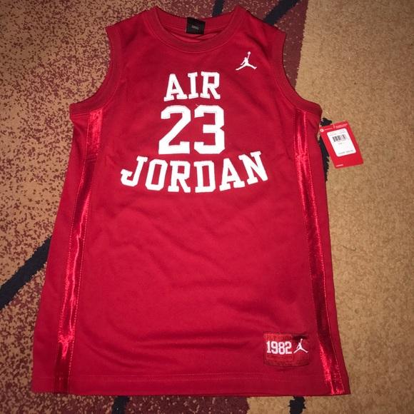 43fae604f5f Jordan Shirts & Tops | Boys Nike Jersey Tank Top Youth Large Nwt ...