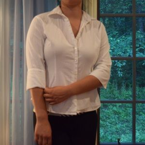 Anne Fontaine Tops - White Button Down 3/4 sleeves