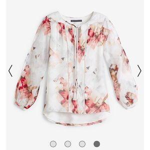White House Black Market Tops - WHBM floral print boho blouse NWT