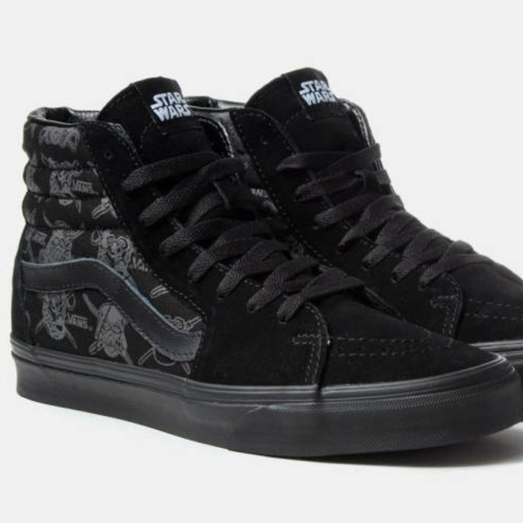 19ec2f495aac74 Star Wars Vans Sk8-hi all black