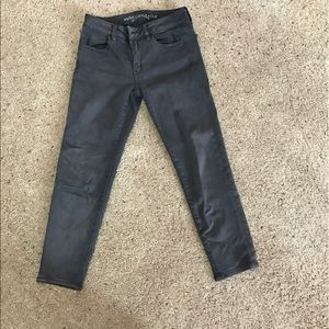 American Eagle Outfitters Denim - American Eagle Crop Jeggings gray