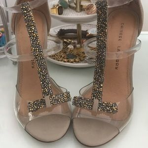 c1ee2298a7f Women s Chinese Laundry Clear Heels on Poshmark