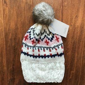 Zara Other - Zara Pom Pom Beanie Sweater Hat