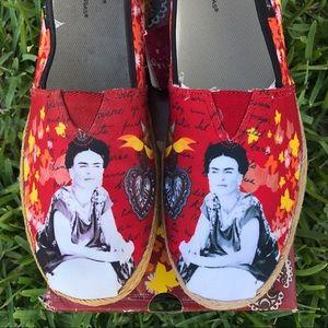New Frida Kahlo Slip on Shoes Loafers Flats Jute
