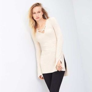 Free People Sweaters - New Free People Criss Cross Long Sweater