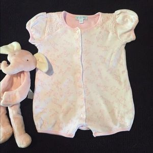 Le Top Other - Le Top Baby smocked giraffe cotton romper
