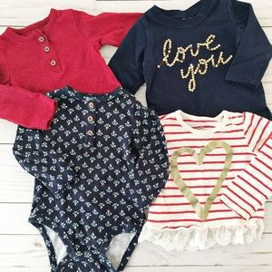 Carter's Other - Red, white and blue baby Top bundle.