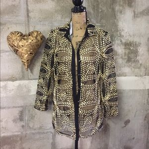 Chico's Jackets & Blazers - NWT Chico's sheer Metallic jacket.
