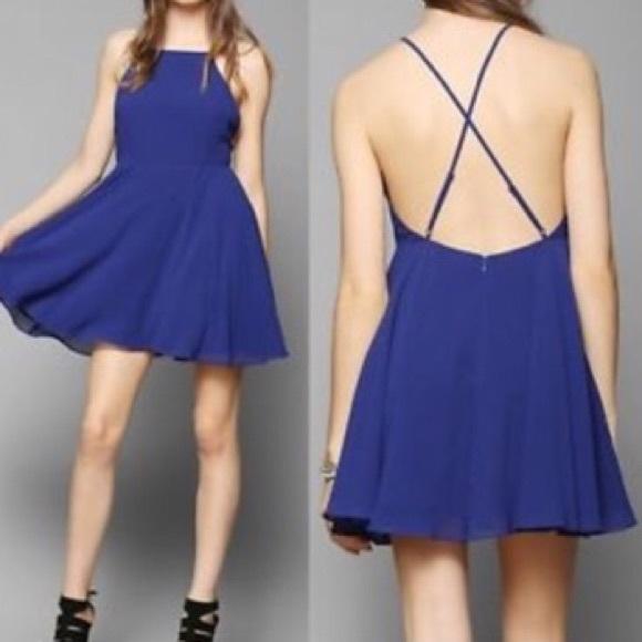 e8f65df023 Royal Blue Open Back Skater Dress. M 59599b23b4188e400a02756d