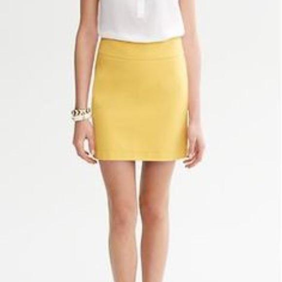 24a723d22b Banana Republic Dresses & Skirts - Banana Republic Yellow Skirt
