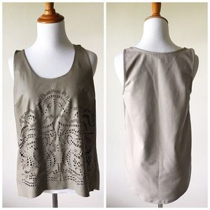 Anthropologie Tops - Anthropologie Sundays In Brooklyn Faux Leather Top