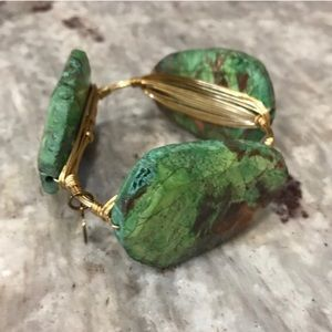 Bourbon and Bowties Jewelry - Shades of Green Bourbon & Boweties bangle