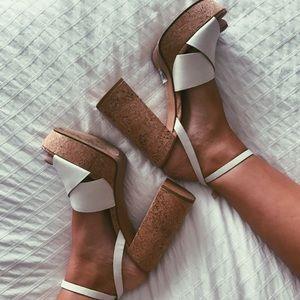 Aldo White Platform Sandals