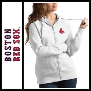 Tops - Boston Red Sox women's Zip up hoodie in white NWT