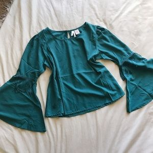 Tops - Teal Bell Sleeve Top
