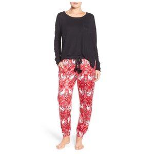 Kensie Other - Kensie Fox Black and Red Pajama Set