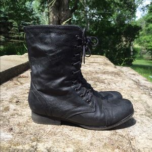 Madden Girl Shoes - Madden girl black combat boots