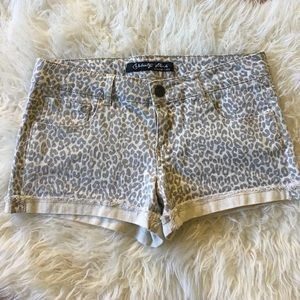 Celebrity Pink Pants - Celebrity Pink Leopard Print stretch shorts - sz 7