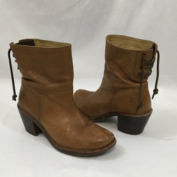 7f0e48f21c5 Frye Carmen Short Back Lace Ankle Boots Size 7