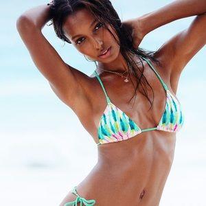 Victoria's Secret tie-dye macrame bikini top